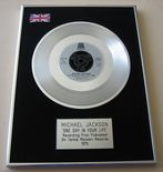 MICHAEL JACKSON - ONE DAY IN YOUR LIFE PLATINUM single presentation Disc